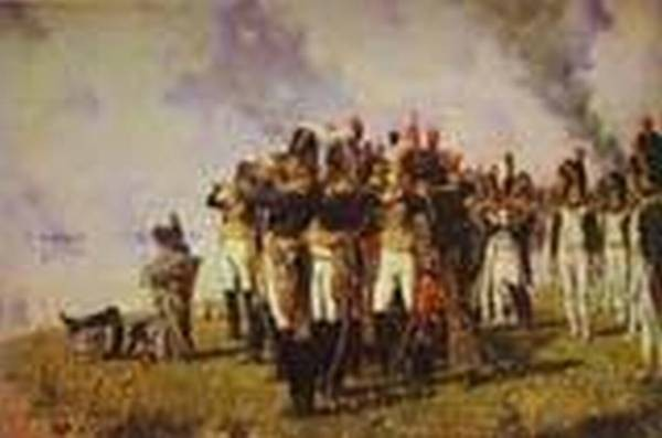 Napoleon i on the borodino hights 1897 xx historical museum moscow russia